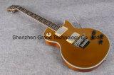 Золотистая верхняя электрическая гитара с оборудованием серебра Vibrato Флойд (GLP-69)