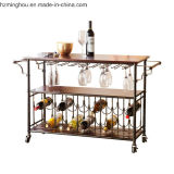 Античный шкаф бутылки вина металла с показом верхней части таблицы