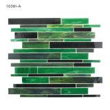 Verblassen nie Gebäude-Grün-Dusche-Fußboden-Fliese-Buntglas-Mosaik