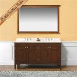 Module de salle de bains de doubles bassins de vanité de salle de bains en bois Fed-1957 solide