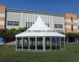 Barraca de alumínio do hexágono do estilo de Europa com parede de vidro