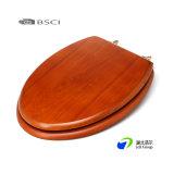 Отлитые в форму HDF деревянные места туалета с деревянным Veneer замедляют близкие шарниры