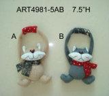 '' mouse Ornaments-4asst della decorazione di natale del panno morbido di h 3.5