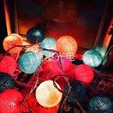 Свет цветастого света шарика хлопка RGB 2m20LED СИД декоративный