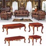 Sofá de madeira com a tabela para a mobília da sala de visitas (D929C)