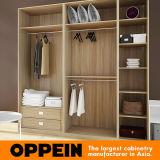 Modernes Schlafzimmer-hölzernes Korn-Melamin eingehängte Garderobe (YG16-M14)