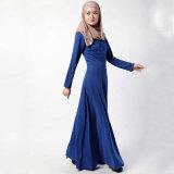 최신 디자인 간단한 가운 Abaya를 입어 회교도 여자
