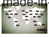 24 pulsos de disparo de parede do tempo do mundo do diodo emissor de luz Digital da cidade principal grandes no preço de fábrica