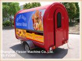 Ristorante mobile dei rimorchi poco costosi di approvvigionamento Ys-Fv300 da vendere