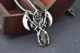 De Juwelen van de Halsband van het Roestvrij staal van het Titanium van de Manier van de Tegenhanger van de Sikkel van de Dood van de Ontwerper van mensen