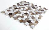 Heißer Verkauf Foshan Hand-Schnitt Entwurfs-Wand-Kunst-Mosaik-Aluminium-u. Glas-Mosaik