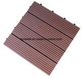 Carrelage composé en plastique en bois de Decking de WPC pour 300*300 extérieur