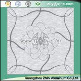 Прозрачное ощупывание с потолком металла замороженным текстурой, алюминиевым потолком - удача приходит с зацветая цветками