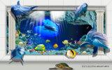 El panel ULTRAVIOLETA del mundo del delfín de la decoración subacuática Dreamlike del tema para el hogar