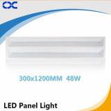 painel do diodo emissor de luz do Ce do preço de fábrica 48W da luz de painel do teto de 300X1200mm