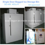 Congelador ensacado única porta DC-380/DC-420 do gelo com capacidade pequena