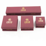Caixa de jóia de couro do plutônio do Leatherette da alta qualidade do OEM (J51-E1)
