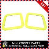Membre d'un club jaune F54 (2PCS/Set) de Mini Cooper de couverture de bordure de mémoire de joncteur réseau de couleur