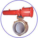 금속 시트 Buttwelding 압축 공기를 넣은 대신할 수 있는 세겹 오프셋 나비 벨브