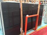 高品質の建築材料の黒檀はカウンタートップのための黒い大理石の平板を並べる