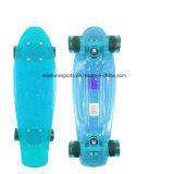 Buntes transparentes Minipenny-Fisch-vierradangetriebenSkateboard