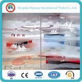 vidrio ácido claro de la puerta del vidrio helado de 10m m con la talla 3300X2140m m