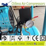 600W 30L beweglicher ölfreier Minigummireifen-Luftverdichter