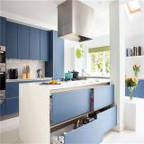 方法/Modrenデザイン島が付いている高く光沢のある白いラッカー台所