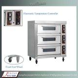 Gas/forno elettrico della pizza con la base di pietra