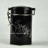 Redondos de encargo del té hermético de embalaje caja de la lata con el bloqueo de alambre