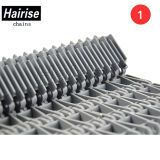 Hairise Raised Rib Durable Plastic Modular Conveyor Belt com ISO