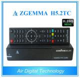 Boîtier décodeur 2017 de câble de Hevc H. 265 de dual core des tuners DVB-S2+ 2X DVB-T2/C de Linux Enigma2 Zgemma H5.2tc trois