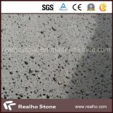 Big Holes Hainan Lava Stone Black Basalto Stone Tile for Pavimentação