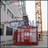 Gaoli 2ton Zahnstange-und-Zahntrieb Drei-Fahren Doppelt-Rahmen Aufbau-Hebevorrichtung