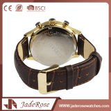 Reloj unisex de calidad superior del cuarzo del cuero genuino