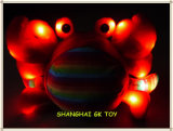 De overzeese Dierlijke Krab van de Pluche met Licht