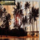 Cortina de chuveiro luxuosa da praia da palmeira do país do disconto