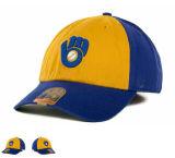 Sombrero de la gorra de béisbol de los deportes del algodón de los paneles de la parte posterior 6 de la correa de la hebilla del metal con insignia del bordado 3D