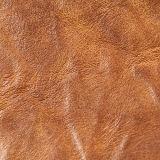 Cuero elástico de la PU del sintético para el zapato del bolso (E6083)