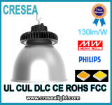 Alta lámpara de la bahía del UFO LED con 130lm/W la caja negra CRI80 y 3030SMD Nichia o viruta de Philips