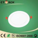 Indicatore luminoso di comitato celato rotondo ultrasottile di 12W LED con Ce/RoHS