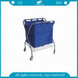 AG-Ss023 con suspender el hospital móvil del carro de lino médico del bolso arropa la carretilla