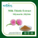 Pó puro 80% Silymarin CAS 22888-70-6 do extrato do Thistle de leite das ervas