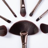 kit de aluminio del cepillo del maquillaje del tubo 18PCS con la caja de la PU