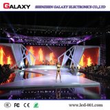 La publicidad al aire libre de interior de alquiler fijada instala la visualización del panel del LED/video de la pared de pantalla