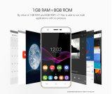 no ouro esperto do telefone do telefone máximo conservado em estoque do Android 6.0 3G WCDMA da câmera da ROM 8MP do RAM 8g do núcleo 1g do quadrilátero da tela Mtk6580A da polegada HD do telefone móvel 5.5 de Oukitel U7