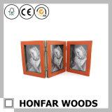 Het drievoudige Hout Scharnierende Houten Frame van de Foto van de Familie van het Frame