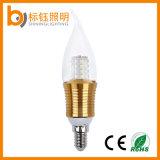 luz E14 E27 de la vela de los candelabros de la extremidad de la llama de la bombilla de la lámpara de 4W LED
