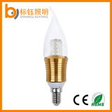 luz E14 E27 da vela dos candelabros da ponta da flama da ampola do candelabro do diodo emissor de luz 4W