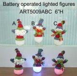 Illuminandosi sull'ornamento Lights-3asst del pupazzo di neve